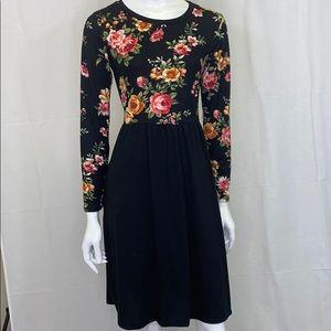 Floral Colorblock Dress